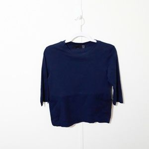 TRF by Zara navy blue cotton top with pockets